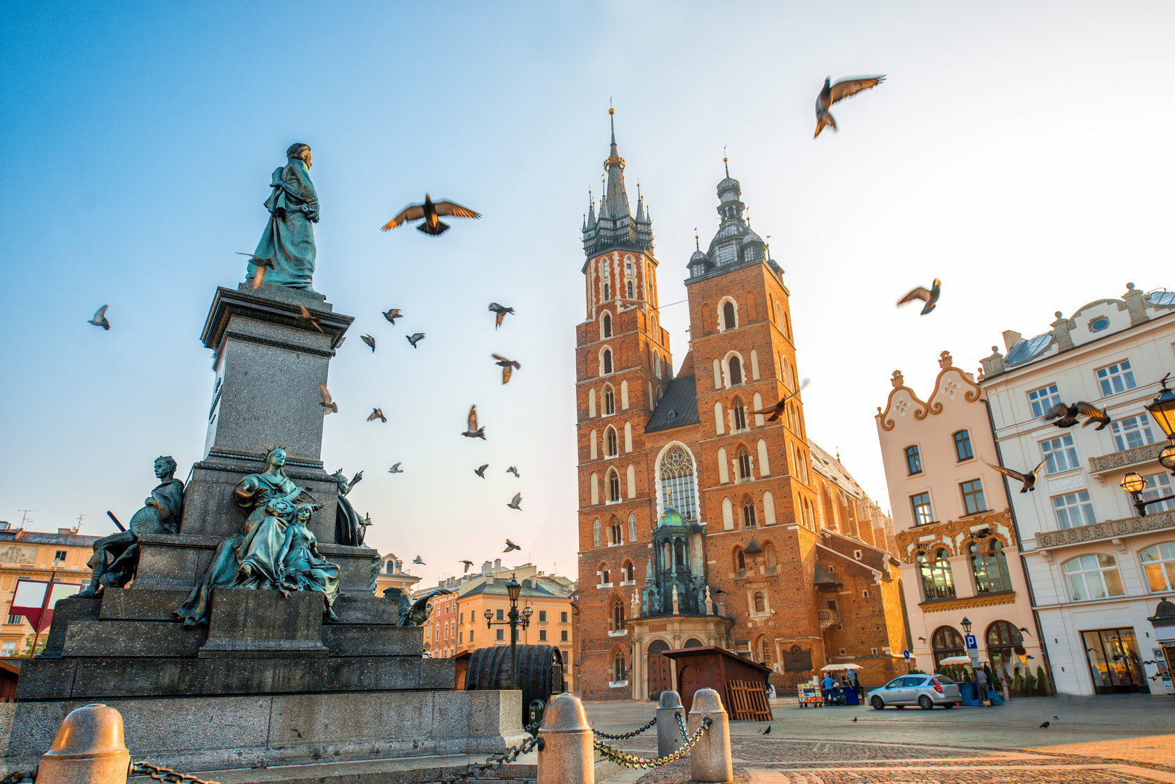 Krakow City Birds Square