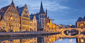 Travel to Belgium on a long-distance coach