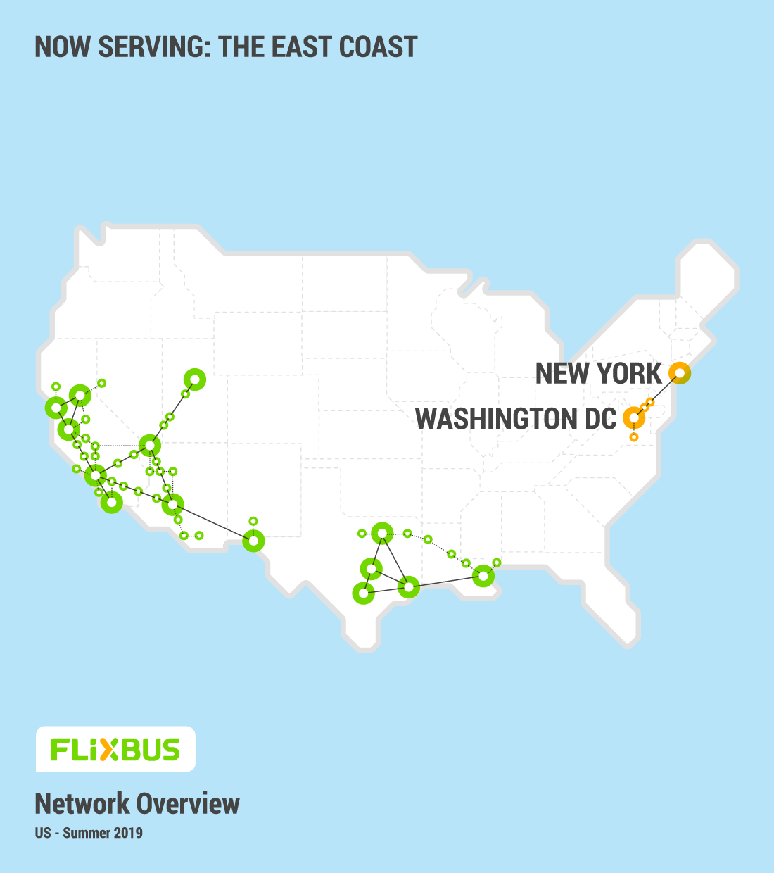 Flixbus Haltestellen Karte.Flixbus Convenient And Affordable Bus Travel In The Us From 4 99