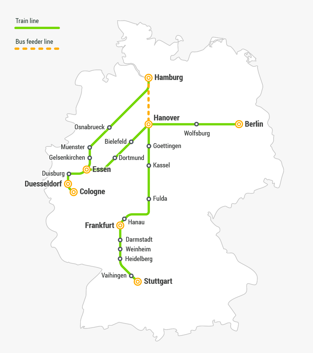 Map Of Germany Gottingen.Fast Train Travel In Germany Flixtrain